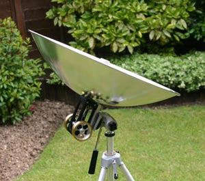 Close up of parabolic dish